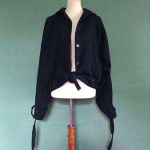 Jackets & Blazers - 90's French designer deep blue wool jacket